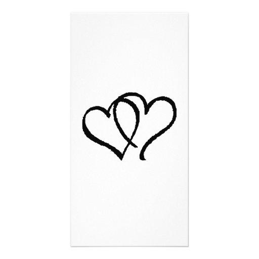 Valentinstag-Herzen Foto Karte