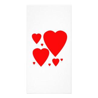 Valentinstag-Herzen Photo Grußkarte