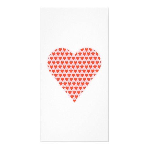 Valentinstag-Herzen Photokarte