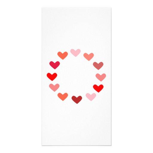 Valentinstag-Herzen Bildkarte