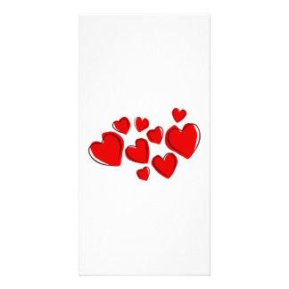 Valentinstag-Herzen Photokartenvorlagen