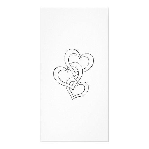 Valentinstag-Herzen Bildkarten