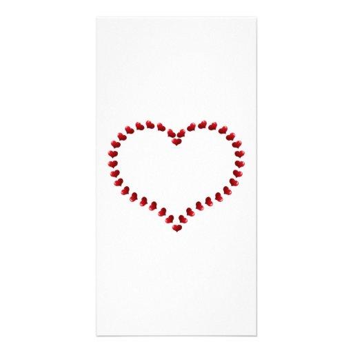 Valentinstag-Herzen Bilderkarte
