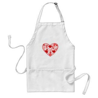 Valentinstag-Herzen im Herzen Schürzen