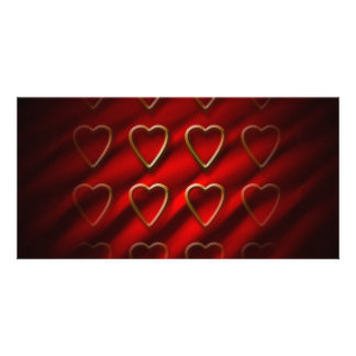 Valentinstag-Hintergrund Personalisierte Foto Karte