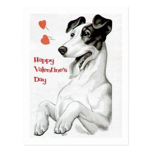 Valentinstag-Hund Postkarten