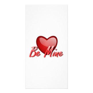 Valentinstag ist Bergwerk-Herz Individuelle Foto Karten