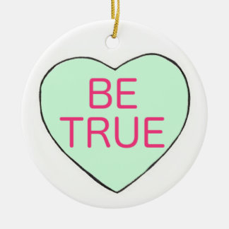 Valentinstag IST WAHRES Süßigkeits-Gesprächs-Herz Keramik Ornament