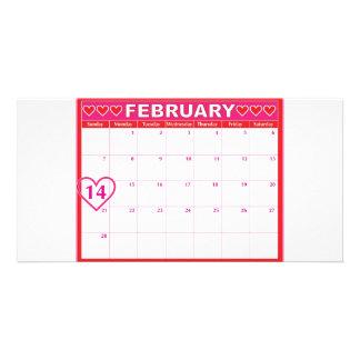 Valentinstag-Kalender Bild Karte