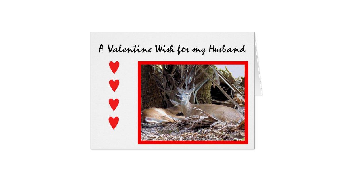 Valentinstag Karte Fur Ehemann Mit Rotwild Gruskarte Zazzle