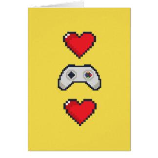 Valentinstag-Karte für Gamers Grußkarte