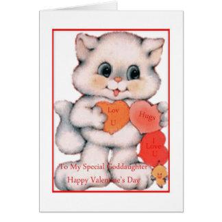 Valentinstag-Karten-Patenttochter Karte