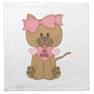 Valentinstag-Katze ist meine Stoffserviette