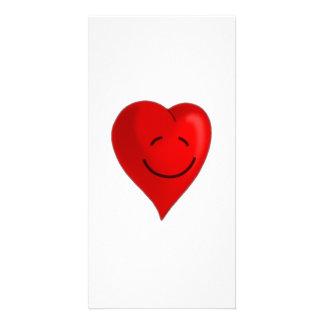 Valentinstag-lächelndes Herz Photokartenvorlage