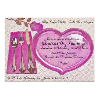Valentinstag-Mittagessen-Einladung 12,7 X 17,8 Cm Einladungskarte