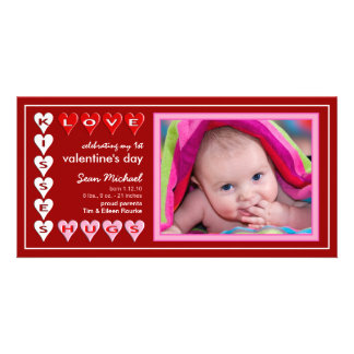 Valentinstag - neue Baby-Mitteilung Foto Karten
