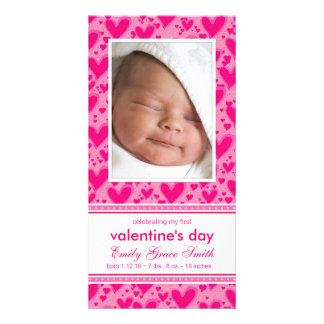 Valentinstag - neue Baby-Mitteilung Photokarten