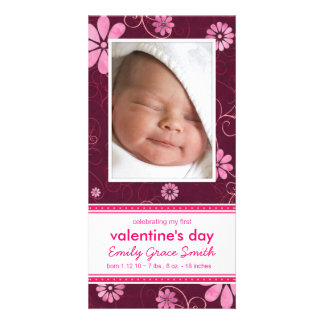Valentinstag - neue Baby-Mitteilung Individuelle Photo Karte