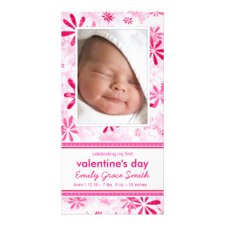 Valentinstag - neue Baby-Mitteilung Individuelle Photo Karten