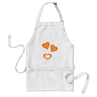 Valentinstag-Orangen-Herzen Schürzen