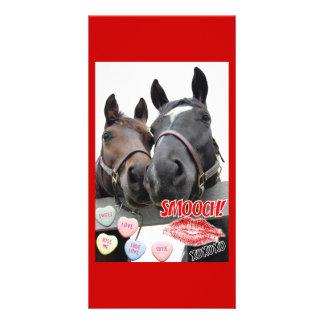 Valentinstag-Pferde Fotogrußkarten