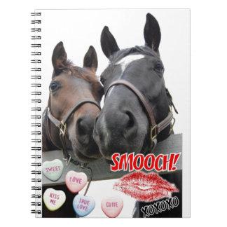 Valentinstag-Pferde Notizblock