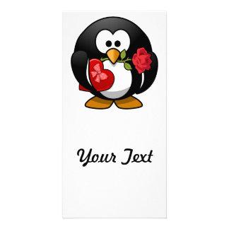 Valentinstag-Pinguin Photokarten