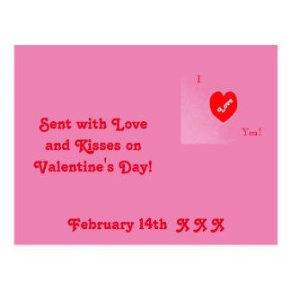 Valentinstag-Postkarte