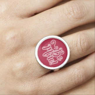 Valentinstag-Ring ist Bergwerk-Blättern-Herz Ring
