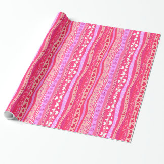 Valentinstag-rosa Herz-glattes Packpapier