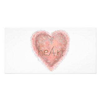 Valentinstag-rosa Herz Karte
