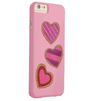 Valentinstag-rosa Herz-Plätzchen-Plätzchen-Kasten Barely There iPhone 6 Plus Hülle