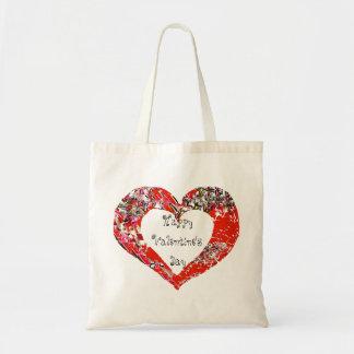 Valentinstag-Rot-Herz Tragetasche