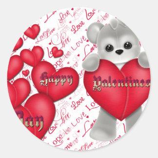 Valentinstag Runder Aufkleber
