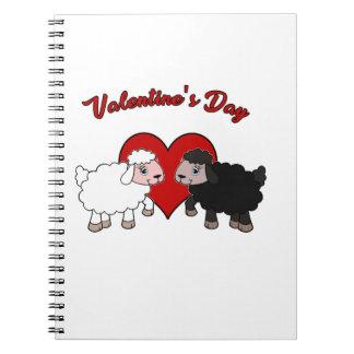 Valentinstag - Schaf Notizblock