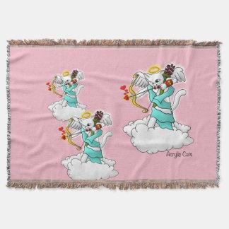 Valentinstag-Schneewittchen-Amor-Katze Decke