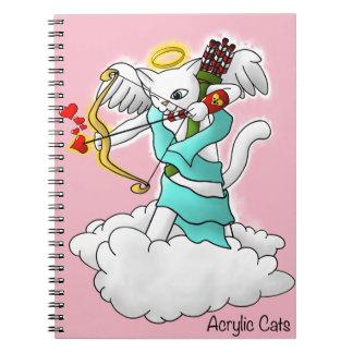 Valentinstag-Schneewittchen-Amor-Katze Notizblock