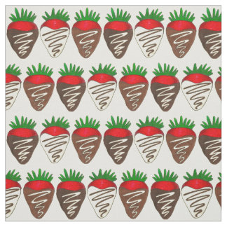 Valentinstag-Schokolade bedeckte Erdbeergewebe Stoff