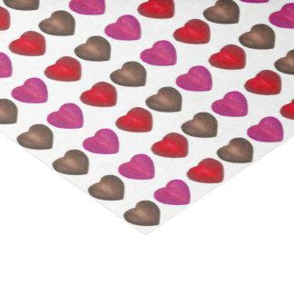 Valentinstag-Schokoladen-Herz rosarotes Brown Seidenpapier