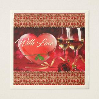 Valentinstag-Seidenpapier Papierservietten