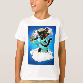 Valentinstag Smokey graue Amor-Katze T-Shirt