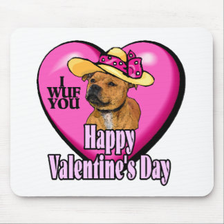 Valentinstag-Staffordshire-Bullterrier Mousepad