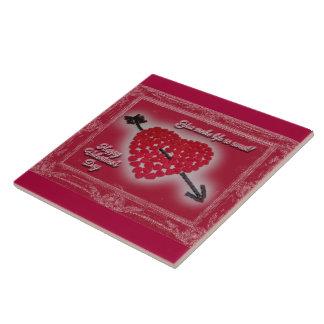 Valentinstag-Süßigkeits-Herz-Gruß Große Quadratische Fliese