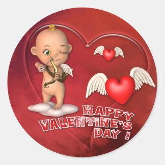 Valentinstag-Toon-Baby-Aufkleber