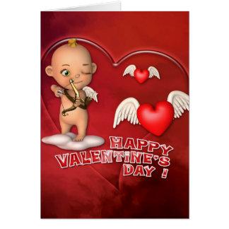 Valentinstag-Toon-Baby-Karte