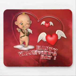 Valentinstag-Toon-Baby Mousepad