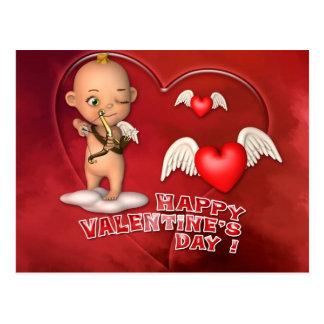 Valentinstag-Toon-Baby-Postkarte