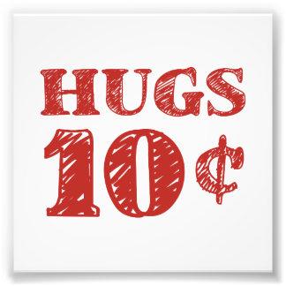 Valentinstag umarmt 10 Cents Fotografischer Druck