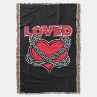Valentinstag verkettetes geliebtes Herz Decke