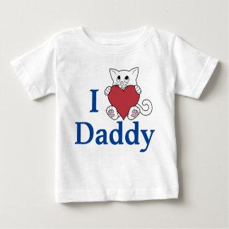 Valentinstag-weiße Katze mit rotem Herzen Baby T-shirt